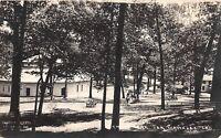 D33/ Lake Wawasee Indiana In Real Photo RPPC Postcard c1910 Pavilion Swing