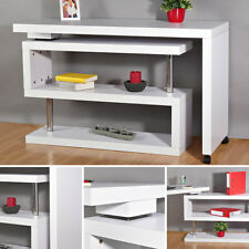 Schreibtisch Computertisch Bürotisch Arbeitstisch Regal Büroregal Weiß Wandregal