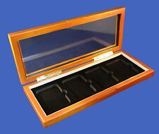 Wood Glass-top Display Box for 4 Certified PCGS NGC Premier Elite Coin Slabs