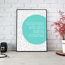 Beautiful Destinations Teal Dalmatian Poster Print Wall Art | Unframed A6 A5 A4
