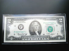$2 1976***STAR***F ATLANTA FEDERAL RESERVE NOTE CHOICE UNC NOTE LOW#ooo77997