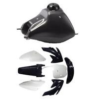 Plastics FUEL GAS TANK Fenders Kit CRF70 110cc 125 150cc Dirt Bike SSR SDG black