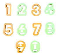 """2"""" Cookie Cutters NUMBERS Dough Cake Decorating Mould Number Cutters"""