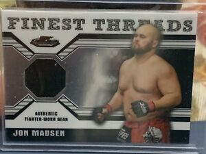 Topps Finest UFC Jon Madsen Relic Card Fight Used Worn Knockout