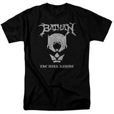Batman Black Metal Logo The Dark Knight T Shirt Licensed Comic Book Tee Black