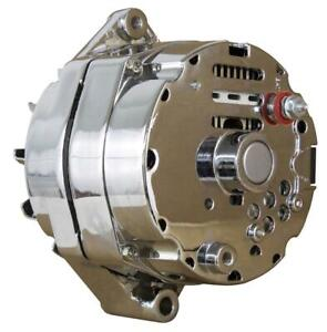 NEW CHROME STREET ROD GM HIGH OUTPUT ALTERNATOR FITS 1-ONE WIRE SELF ENERGIZING
