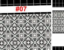 2 X hojas de Casa de Muñecas Victoriano Wallpaper Efecto Mosaico Cocina Papel Satinado #07