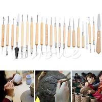 22Pcs Pottery Clay Sculpture Carving Modelling Ceramic Hobby Tools Art Craft DIY