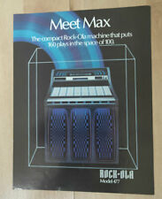 Rock-ola Rockola Max Model 477 Vinyl Jukebox Sales Brochure / Flyer / Pamphlet