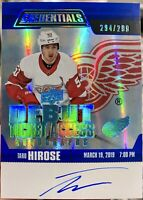 2019-20 CREDENTIALS TARO HIROSE BLUE DEBUT TICKET ACCESS AUTO /299 RED WINGS SP