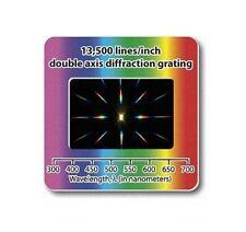 Réseau de diffraction double axe 13500 lignes/pouce. Filtre Diapositive slide