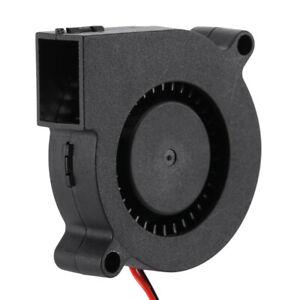 wholesale 5015 DC12V, 24V Silent Radial Turbo Blower Fan Cooling for 3D Printer