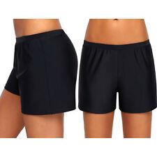 Pantalones cortos de baño retro negros mujer