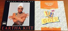 "EARTHA KITT Where Is My Man RARE  2x 12"" VINYL LOT (1983-1990) CANADA & UK Disco"