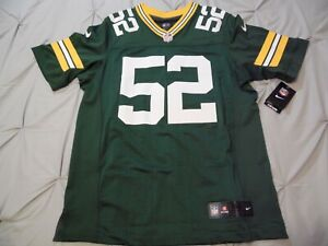 Clay Matthews Green Bay Packers Authentic Home Green Nike ELite Jersey Sz 44