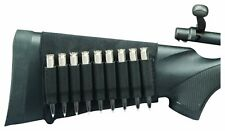 HS HUNTER'S SPECIALTIES  BLACK RIFLE BUTT STOCK 9 CARTRIDGE AMMO SHELL HOLDER