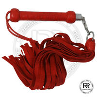 Cow Hide Suede Thick Leather Flogger 25 Tails Heavy Leather Revolving Flogger