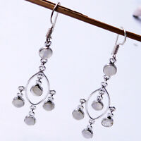 Rainbow Moonstone 925 Sterling Silver Plated Handmade Jewelry Earring 5 Gm