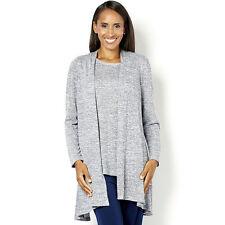 Kim & Co Women's Knitted Cardigan Twinset Top & Cardigan XL BNWT QVC £60.95 Blue