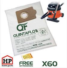 60x Numatic Henry Hetty James Vacuum Cleaner Hoover Bags+Fresheners Microfleece