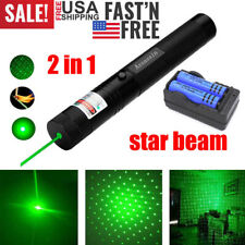 Green Laser Pointer Pen 990Mile 532nm Visible Beam Light Lazer+Charger+2xBattery
