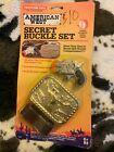 Vintage American West cap gun Secret Buckle Set Tootsie Toy Tootsietoy in box