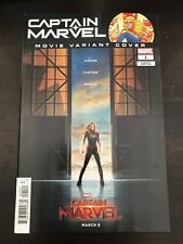 Captain Marvel #1 2018 1:10 Movie variant NM 9.4 Unread