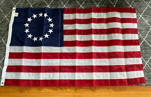 Betsy Ross Emb Flag 3x5ft Made in USA 13 Stars Sewn New