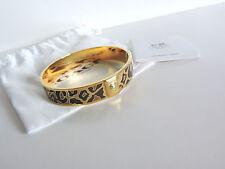 "Coach Ocelot/Animal Print Gold Multi Brown 1/2"" Bangle Bracelet NWT"