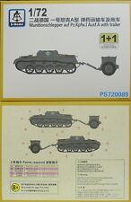 trattore di munizioni pz.kpfw.i ausf.a rimorchio, 1/72, S-Model, 2 modelli,