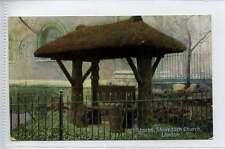(Lc257-343)  Stocks, Shoreditch Church, LONDON c1910  Used VG