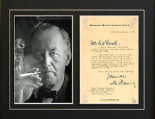 Repro letter signed by Ian Fleming Autographed James Bond books author photo