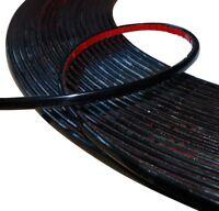 6mm 4.5m Bande baguette adhésive couleur noir pour auto voiture moto