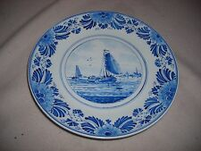 BLUE SAILING SHIPS PLATE -GOOD USED CONDITION