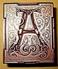"Fine Decorativa Letra ""a"" bloque de impresión."