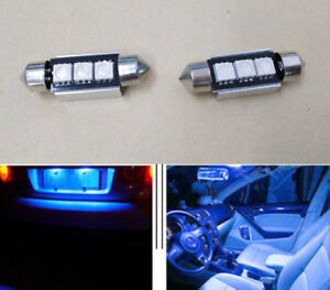 8pcs 36mm blue CANBUS Error Free 3 LED 5050 SMD License Plate Dome Light Bulbs