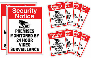10 3M Home Surveillance Security Camera Video Sticker Warning Decal Outdoor Sign