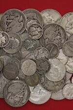 MAKE OFFER 1 Standard Pound 90% Silver Mixed Junk Coins 16 Halves Included