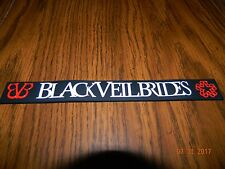 MIP-Black Veil Brides Rubber Wristband one size fits most