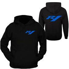 Yamaha Racing Black Long Sleeve TEE YZF R1 R6 Banshee Hoodie Hooded Sweatshirt