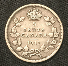 Canada 1911 Silver 5 Cents .925 George V / 5-043
