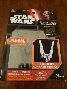 Star Wars Kylo Rens shuttle- Metal Earth 3-D Laser Cut Steel Model Kit NEW