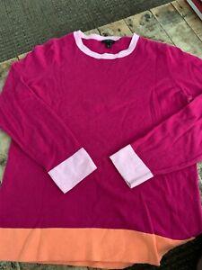 TALBOTS ROUND NECK SWEATER  3/4  Sleeve COTTON BLEND EUC