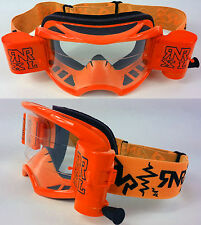 2015 Rip - and - Roll RNR COLOSSUS Motocross MX XL OFF GAFAS ENDURO Naranja Neón