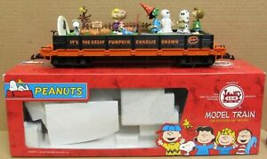 LGB 44610 Peanuts Flat Car w/Halloween Scene Snoopy/Woodstock *RARE* G-Gauge