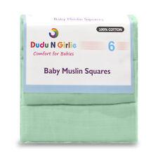 (paquete De 6) Perfecto Calidad Premium Baby Muselina Plazas 100% Algodón, Extrasuave, Nuevo