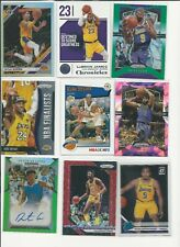 LOS ANGELES LAKERS LOT OF 58 PRIZM SILVER GREEN  REFRACTOR AUTO JERSEY