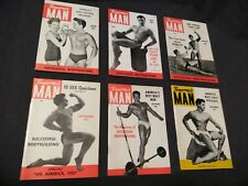 TOMORROW'S MAN - 1953 Body building  gay interest digest lots of photos 6 issues