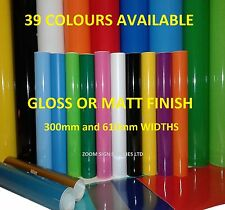 More details for buy 2 get 1 free self adhesive sticky back plastic sign making vinyl cricut