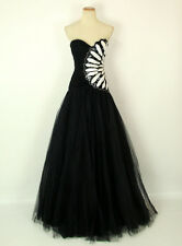 New Jovani Genuine 71633 Black Strapless Prom Ball Pageant Gown Size  2